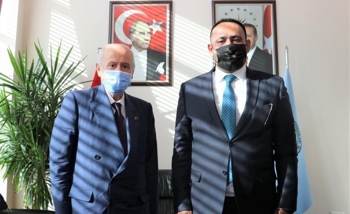 Başkan Yılmaz MHP Lİderi Bahçeli İle Bir araya Geldi
