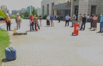 Yenişehir Belediyesi personeline yangın eğitimi