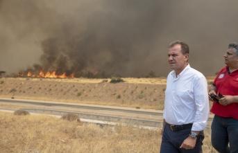 Başkan Seçer Yangın Bölgesinde