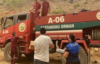Yangıncıların imdadına Anamur Belediyesi Yetişti