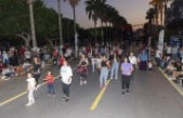 Mersinliler caddede spor yaptı