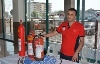 Taşti Personeline Yangın Eğitimi
