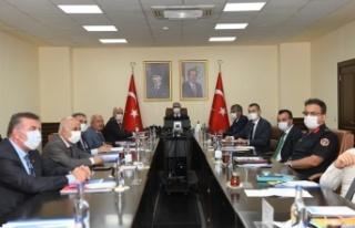 Toplantı Vali Su Başkanlığında Yapıldı