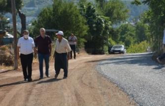 Gülnar'da Yol Çalışmaları Sürüyor