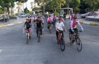 Caddeler bisiklet turlarıyla canlandı