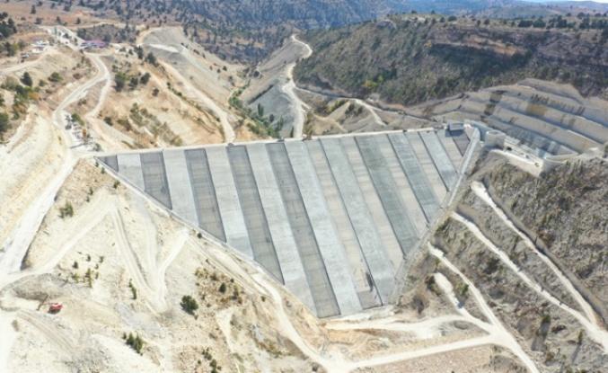 Barajın % 83'ü Tamamlandı